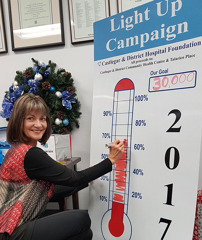 Stefanie Zaytsoff Campaign Thermometer